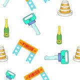 Competindo o auto teste padrão da competição, estilo dos desenhos animados ilustração stock