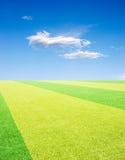 Competindo o campo sob o céu Imagem de Stock Royalty Free