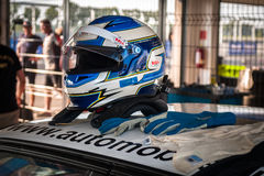 Competindo o capacete Imagens de Stock Royalty Free