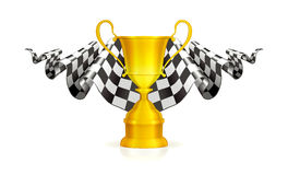 Competindo o emblema Fotos de Stock Royalty Free