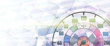 Competindo o fundo quadrado, abstração da ilustração do vetor Imagem de Stock Royalty Free