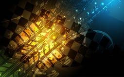 Competindo o fundo quadrado, abstração da ilustração do vetor no rac Foto de Stock Royalty Free