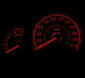 Competindo o medidor de velocidade 1 do carro do estilo Fotos de Stock