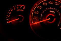Competindo o medidor de velocidade 2 do carro do estilo Foto de Stock Royalty Free