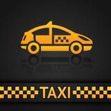 Competindo o molde do fundo, contexto do táxi de táxi Fotografia de Stock