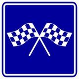 Competindo o sinal das bandeiras Fotografia de Stock