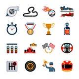 Competindo os ícones ajustados Foto de Stock Royalty Free