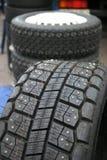 Competindo pneus Fotografia de Stock