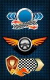 Competindo símbolos e ícones Imagens de Stock