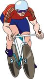 Competing cyclist Royalty Free Stock Images
