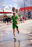 Competing triathlete royalty free stock photos
