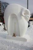 Competição nacional da escultura de neve - lago Genebra, WI Fotografia de Stock