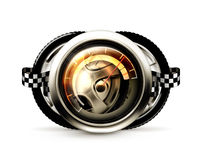 Competir con el emblema Imagenes de archivo
