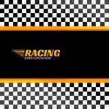 Competir con el fondo con la bandera de la raza, diseño del deporte del vector Imagen de archivo libre de regalías