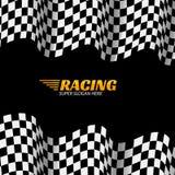 Competir con el fondo con la bandera de la raza, la bandera del diseño del deporte del vector o el cartel Fotografía de archivo