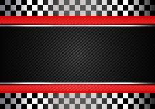 Competir con el fondo rayado negro Imagen de archivo libre de regalías