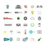 Competir con el sistema coloreado del icono libre illustration