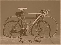 Competir con el vintage de la bici Imagen de archivo