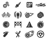 Competir con iconos Imágenes de archivo libres de regalías