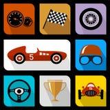 Competir con iconos planos Foto de archivo