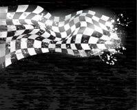 Competir con la bandera a cuadros del fondo wawing 1 Imagen de archivo libre de regalías
