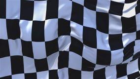 340 Competir con la bandera a cuadros que agita en fondo inconsútil continuo del lazo del viento ilustración del vector