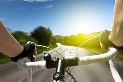 Competir con la bici Fotos de archivo