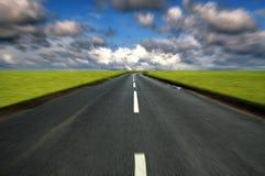 Competir con la carretera nacional Foto de archivo