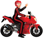 Competir con la moto Fotografía de archivo