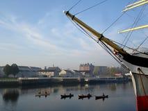Competir con las canoas Imágenes de archivo libres de regalías