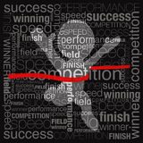 Competition. Success concept was created with typographic design Stock Photo