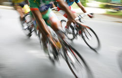 Competition. Break away in the bicycle race Around Denmark 2008 Royalty Free Stock Image