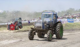 Competition for agricultural tractors on the Bizon Track Show Stock Image