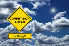 Competition. Ahead road sign concept Royalty Free Stock Photos