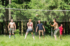 Competition for Amateur volleyball in the Kaluga region in Russia. Volleyball is very popular among young people and students. For this reason, Russia is often royalty free stock photo