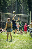 Competition for Amateur volleyball in the Kaluga region in Russia. Volleyball is very popular among young people and students. For this reason, Russia is often royalty free stock images