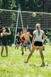 Competition for Amateur volleyball in the Kaluga region in Russia. Volleyball is very popular among young people and students. For this reason, Russia is often stock photos