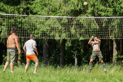 Competition for Amateur volleyball in the Kaluga region in Russia. Volleyball is very popular among young people and students. For this reason, Russia is often royalty free stock photography