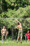 Competition for Amateur volleyball in the Kaluga region in Russia. Volleyball is very popular among young people and students. For this reason, Russia is often stock photo
