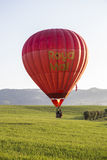 Competition of balloons in Italy. GUALDO CATTANEO, ITALY - JULY 31, 2016: Sagrantino International Challenge Cup. Colored balloon flies over a field Stock Image