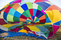Competition of balloons in Italy. GUALDO CATTANEO, ITALY - JULY 31, 2016: Sagrantino International Challenge Cup. Preparation of balloons for the competition Stock Photos