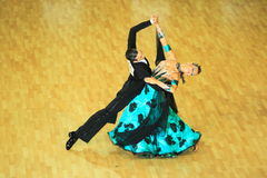 Competition in ballroom dancing Royalty Free Stock Photography