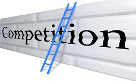 Competition barrier concept, 3d Royalty Free Stock Photography