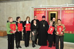 The competition of bell ringers in the city of Gomel (Belarus) is 18 August 2013. Stock Photo