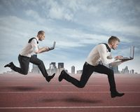 Competition in business Royalty Free Stock Image