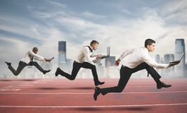 Competition in business Stock Photos