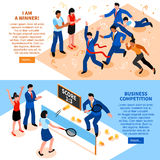 Competition Business Horizontal Banner Set Stock Image