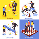 Competition Business Icon Set Stock Image