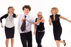Competition of business team Stock Image