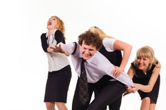 Competition of business team Royalty Free Stock Image